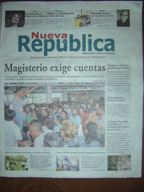 portada del No. 10 de Nueva República, alternativa para el cambio