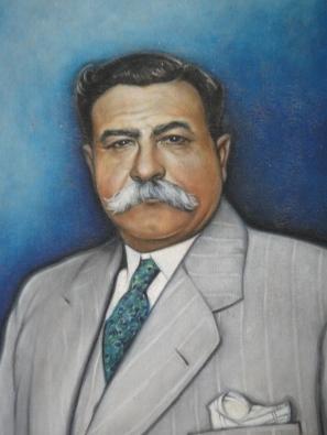 Tiburcio Carías Andino, retrato al oleo,  colección de Aurora de Carías